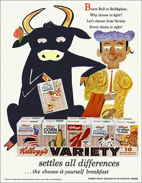 Bull and Bullfighter - Kellogg's Variety Pack, 1958