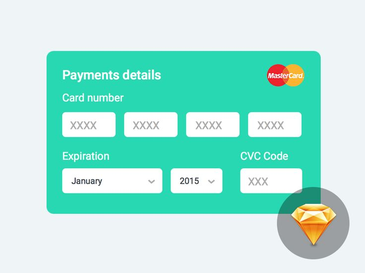 Credit Card Form Ux design, User interface and Ui ux - credit card form