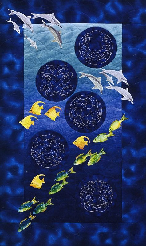 Tropical Waves Quilt by Sylvia Pippen