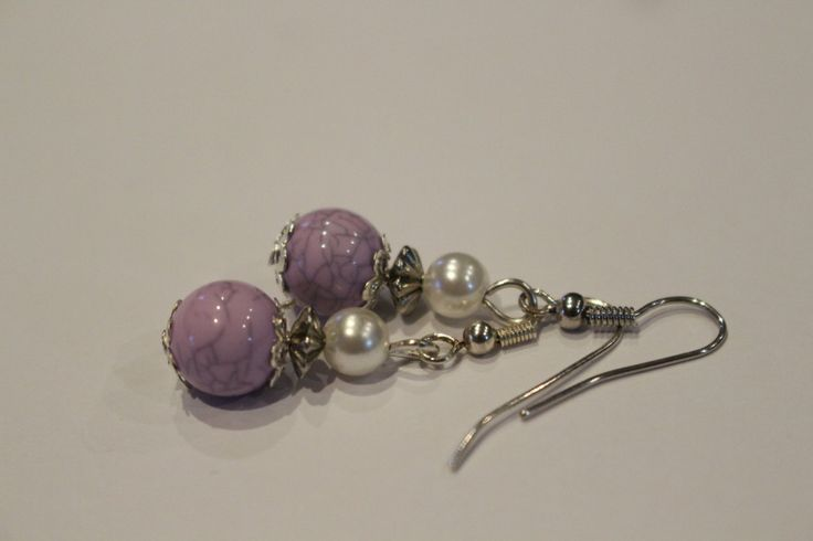 acrylic and purple earrings by 1ofAKindHomeMade on Etsy