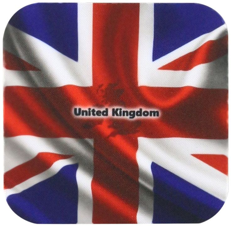 3dRose cst_204512_1 United Kingdom Flag Soft Coaster (Set of 4) *** See this great image  : Coasters Home Decor