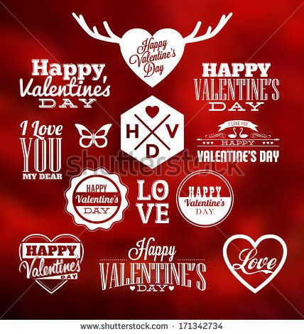 Set of Typographic Valentines Design Templates by Vilmos Varga, via Shutterstock
