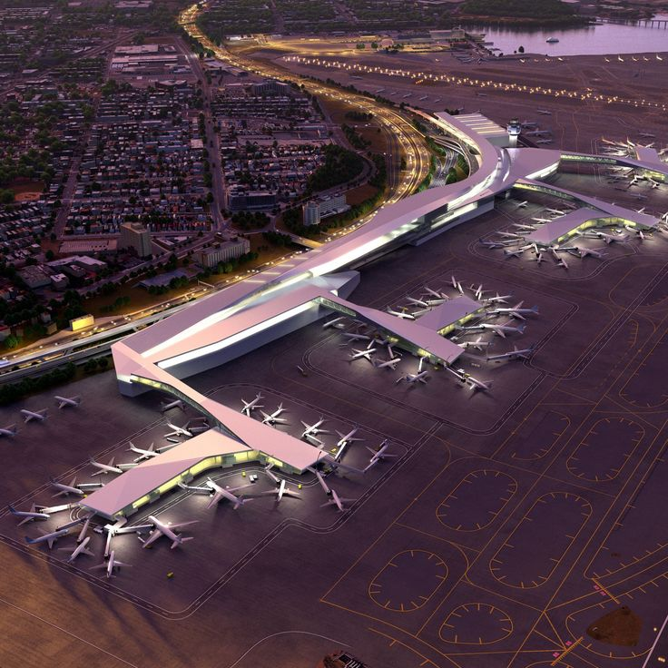 Rendering of the new unified LaGuardia terminal (Credit: www.governor.ny.gov)