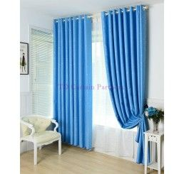 Blackout Kids Room Bedroom Midnight Sky Blue Star Curtain Drapes Eyelet,  For More Information Visit