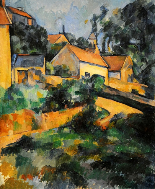 Turning Road at Montgeroult - Paul Cézanne, 1898. The Metropolitan Museum of Art, New York. #cézanne