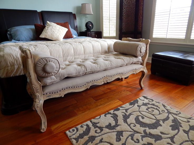 1000 images about client photos on pinterest upholstery garden sofa and cedar park - Seat at foot of bed ...