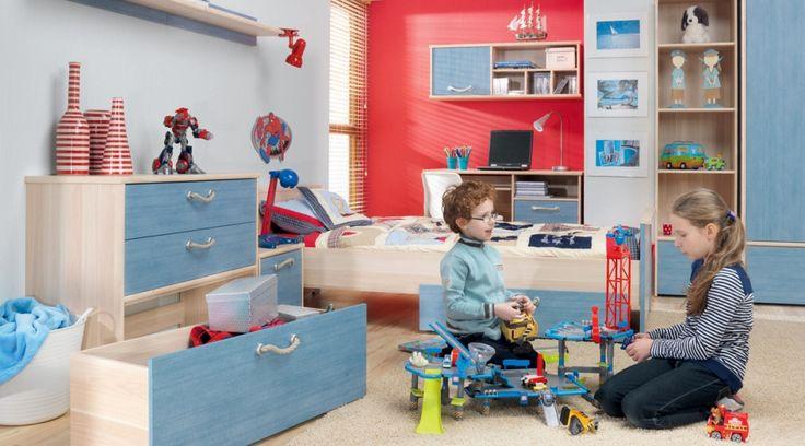 Pokój dziecięcy NODO utrzymany z marynistycznej kolorystyce. Meble z kolekcji dostępne na stronie http://www.forte.com.pl/pl