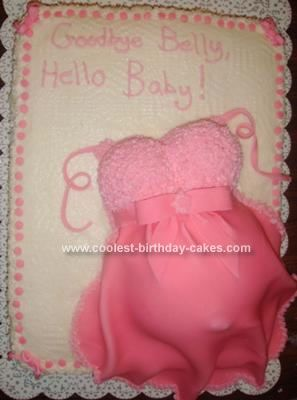 Homemade Baby Belly Cake: This Baby Belly Cake Turned Out Beautiful! I Did A