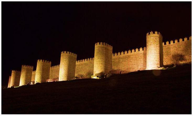 Walls of Avila in spain