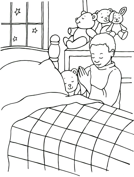 sunday school coloring pages prayer - photo#13