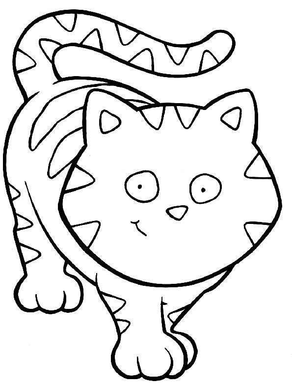 Dibujos De Perros Y Gatos Para Colorear Gatito Para Colorear