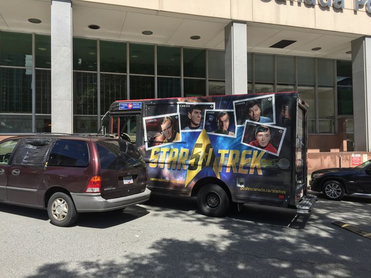 Star Trek postal truck downtown.