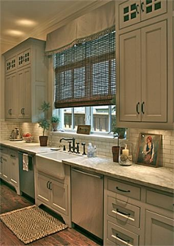 Barringer Family Homes ~ I like the old fashioned style of this kitchen and the colors.