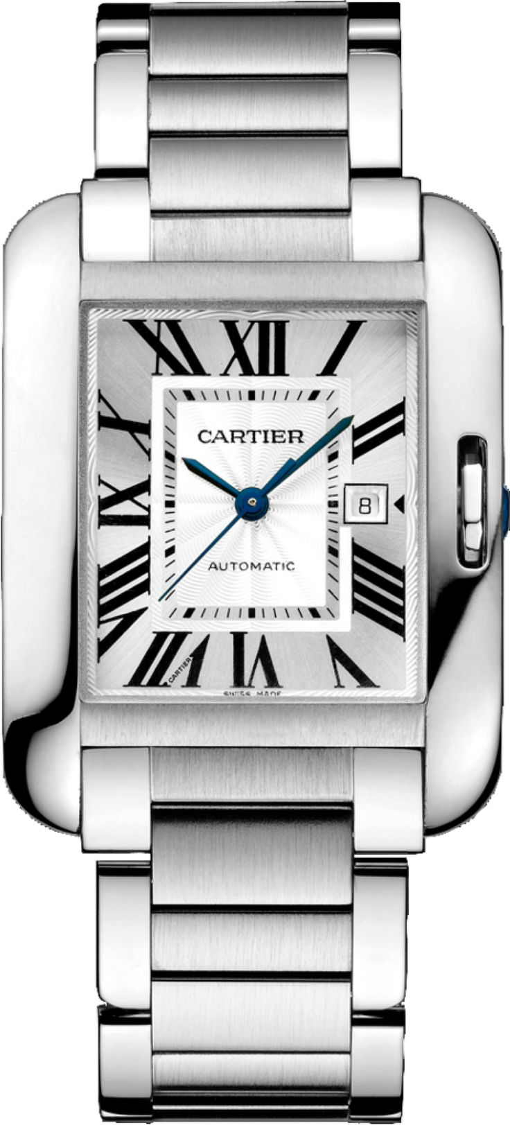 #Cartier Tank #Anglaise Stainless Steel #Watch