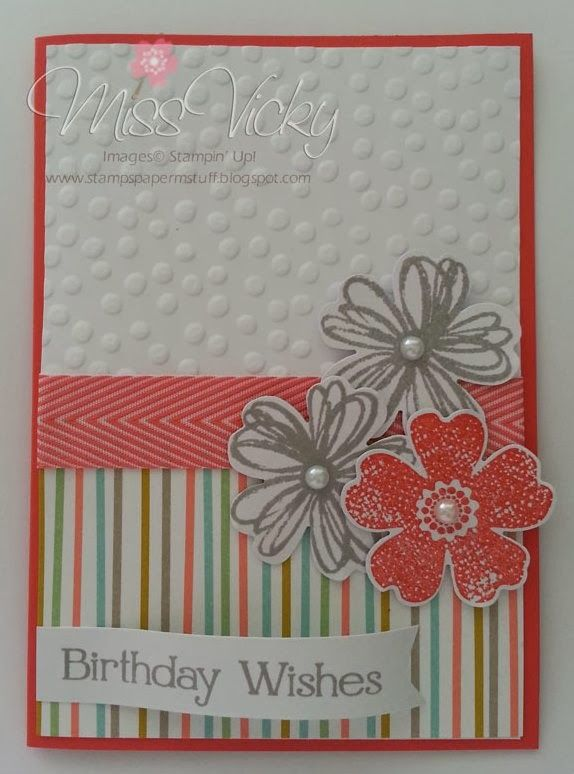 Female Birthday Card Stamp Set - Flower Shop, Four You DSP - Sweet Sorbet SAB 2014 Stampin' Up!®