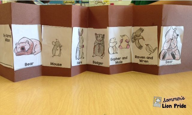 Bear Snores On - make an accordian book with these free sequencing pictures