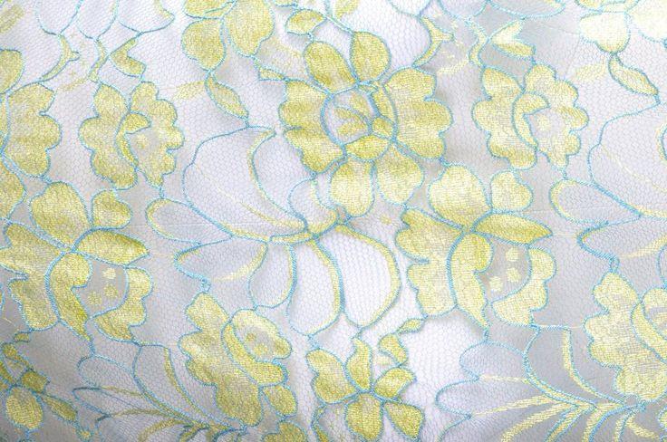 Dentelle leavers Caudry-Calais (vert pistache 100cm x 115 cm)