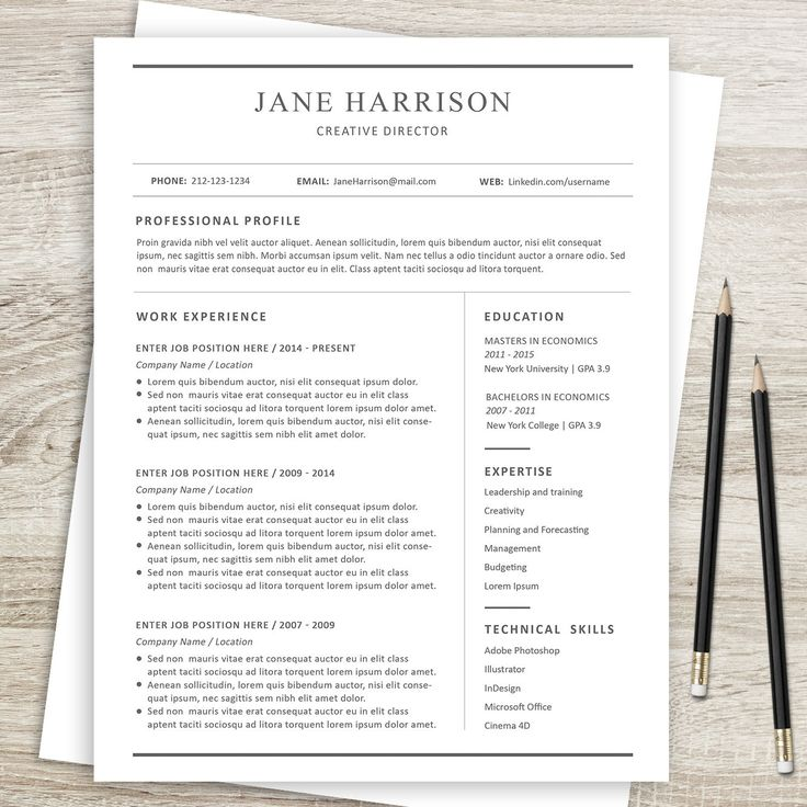 7 best Resume \ Cover Letter Template images on Pinterest Letter - reference page template resume