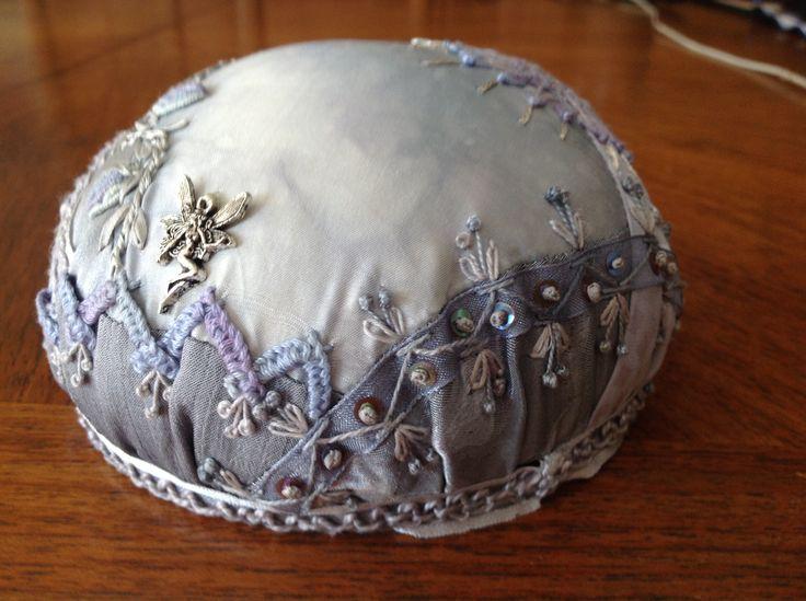 Pincushion made by Margaret Roberts from Lisa Boni's tutorial.