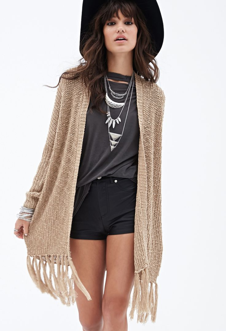 Fringed Open-Knit Sweater $29.90