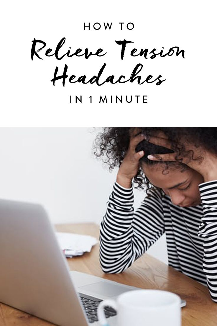 Here's a super-simple trick to try when you feel a tension headache coming on.