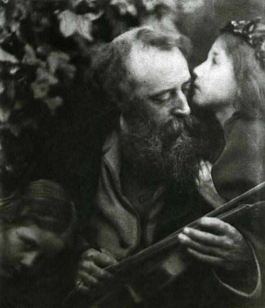 Julia Margaret Cameron. The Kiss of Peace- G.G. Watts and Children. c. 1867.: Summer Photos