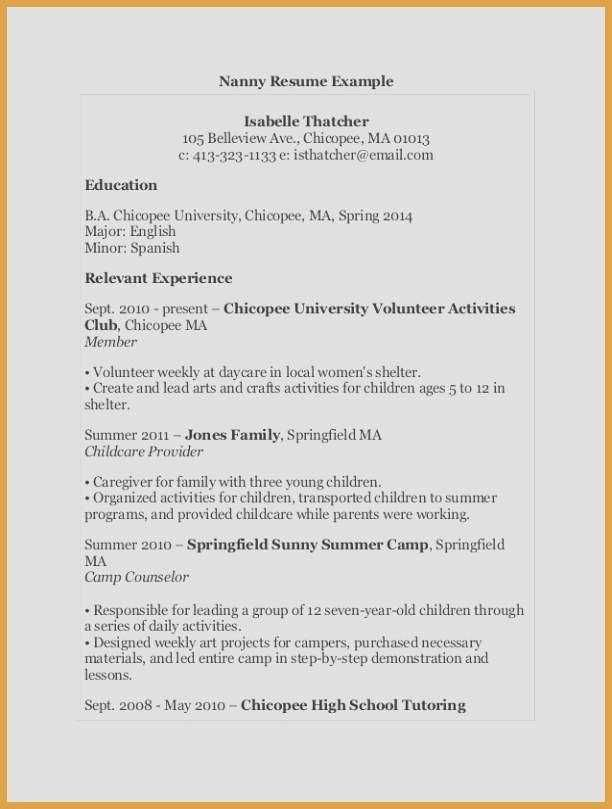 66 Beautiful Photos Of Child Care Provider Resume Objective Examples