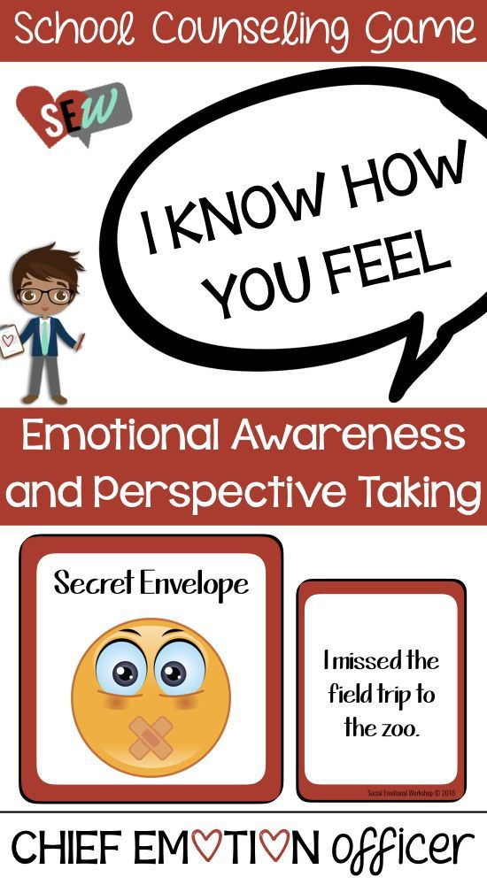 I know how you feel. An engaging group game that encourages emotional awareness and perspective taking. Perfect to discuss how people feel different emotions in the same situation. Great addition to small counseling groups focused on perspective taking. Works well for students with autism, ADHD, or social skills deficits, but could also be used in classrooms. Social Emotional Workshop.
