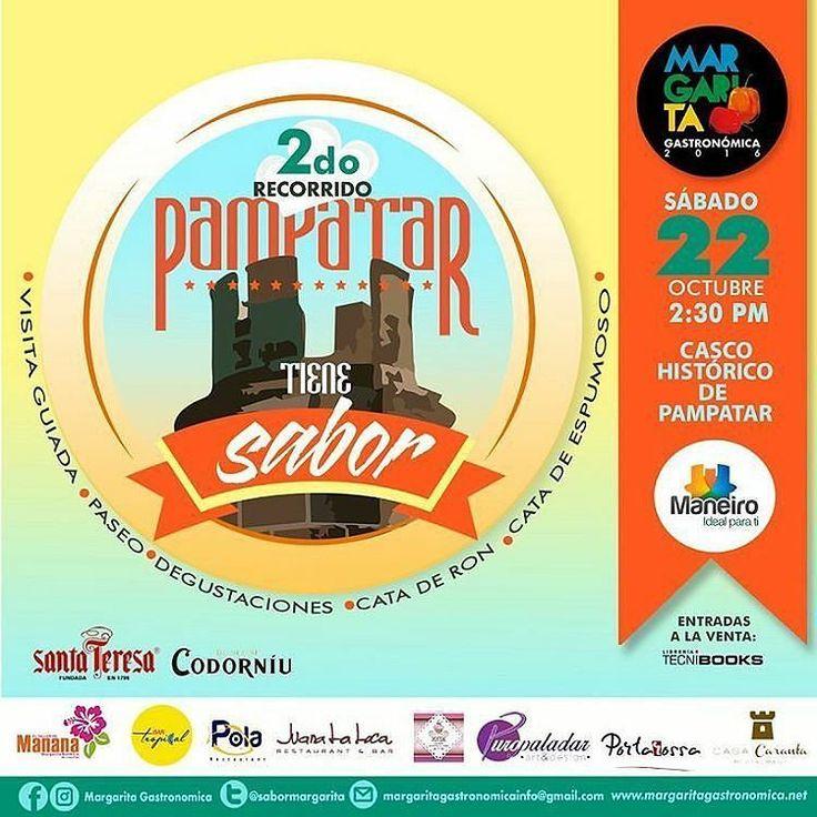 -  Próximo Sábado 22 llega el #2doRecorrido #PampatarTieneSabor  Ruta: -Taller de Manana -Restaurante Pola (degustacion margariteña) -Juana La Loca (cata de espumosos) -Keik Cupcakes (cafe y ponques) -Puro Paladar (manteleria creativa) -Casa Caranta (cata de ron y cocteleria)  Estrenos y Primicias: -Bar Tropical (visita y brindis) -Portarossa (visita y degustacion)  SORPRESAS  VISITA GUIADA  OBSEQUIOS  RIFAS Te lo vas a perder? Solo 20 personas. Bs. 20.000 Entradas a la venta: solo en…
