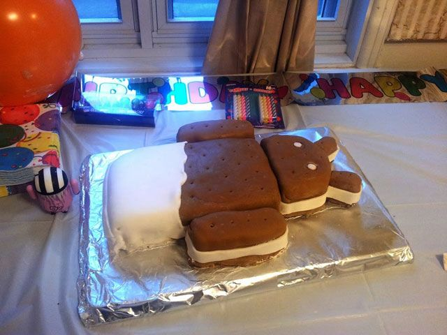 Large Google Android Ice Cream Sandwich Cake