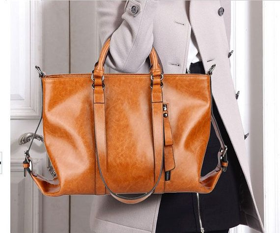 Hey, I found this really awesome Etsy listing at https://www.etsy.com/listing/165997323/waxed-leather-tote-bag-women-shoulder