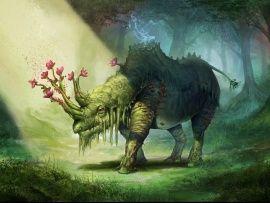 Photo nature fantasy art rhinoceros HD WALLPAPER