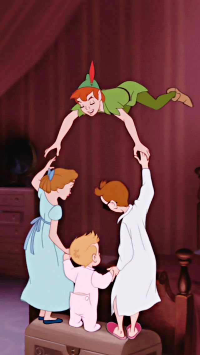 *WENDY, MICHAEL, JOHN & PETER ~ Peter Pan, 1953