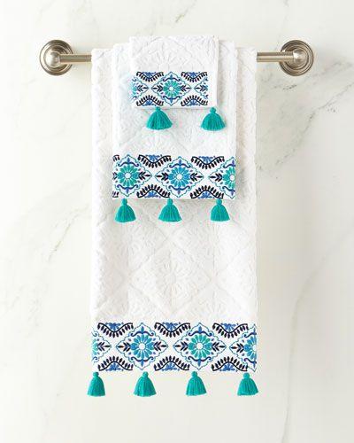 Aloka Blue Hand Towel