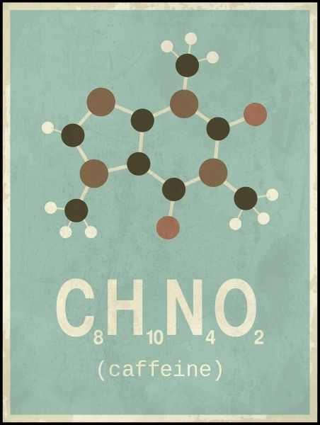 Plakat Caffeine - Keiserens nye trær