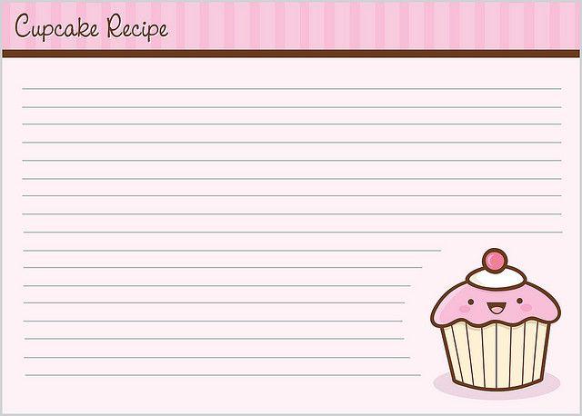 Cupcake Recipe Card - 2 by Jerrod Maruyama, via Flickr