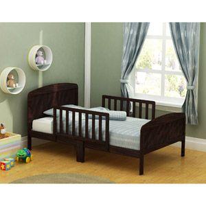russell children harrisburg xl guardrail wooden toddler bed expresso