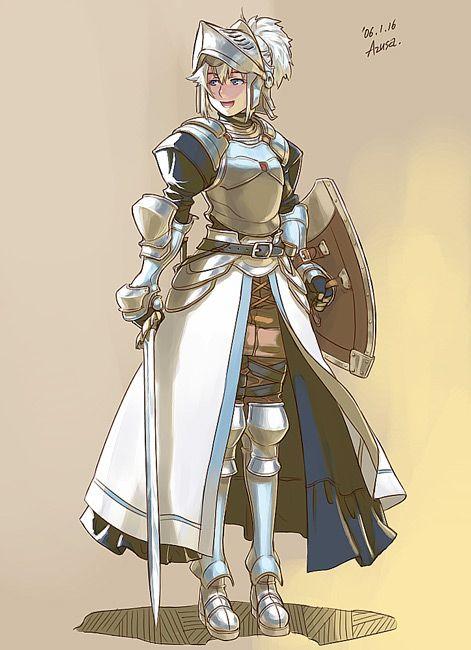 knight, warrior, fighter, plate armor, longsword, shield ...