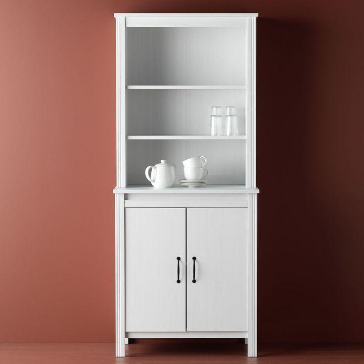 Brusali High Cabinet With Door White Ikea Repurpose Ideas In 2019 Cabinet Furniture Kitchen Dresser Kitchen Dresser Ikea