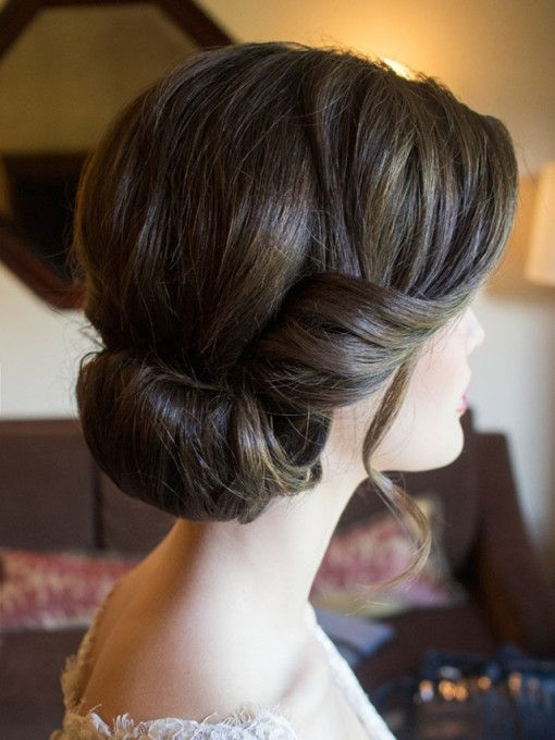 20 Low Updo Hair Styles for Brides