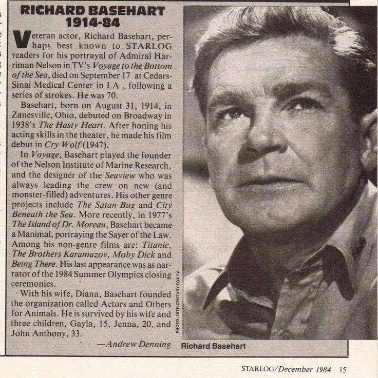 .RIP Richard Basehart  - our Admiral