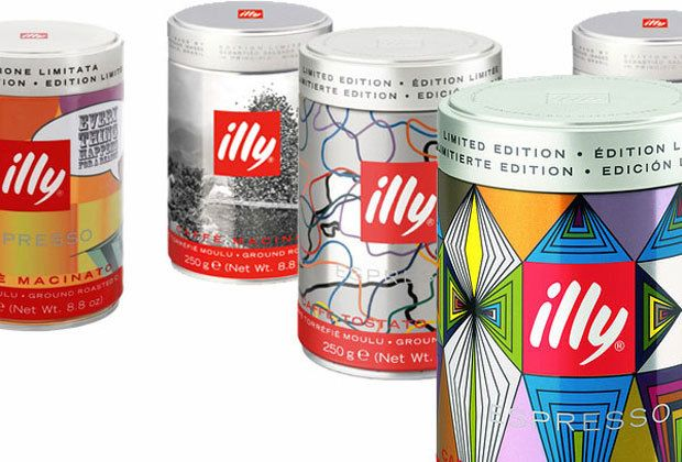 Italian espresso maker releases latest artist designed coffee cans.