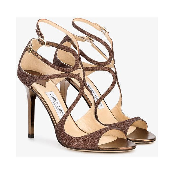 Jimmy Choo Paloma Lang Heeled Sandals (855 CAD) ❤ liked on Polyvore featuring shoes, sandals, brown, brown shoes, heeled sandals, brown heeled sandals, jimmy choo sandals and synthetic shoes