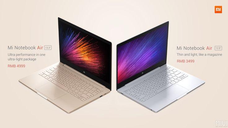 Xiaomi Mi Notebook Air : deux ordinateurs portables aux allures de MacBook Air et de Surface Book - http://www.frandroid.com/marques/xiaomi/369756_mi-notebook-air-xiaomi-devoile-deux-ordinateurs-portables  #Xiaomi