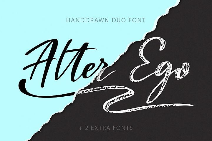 Download Alter Ego duo font 2 extra fonts  Fonts Style 2019