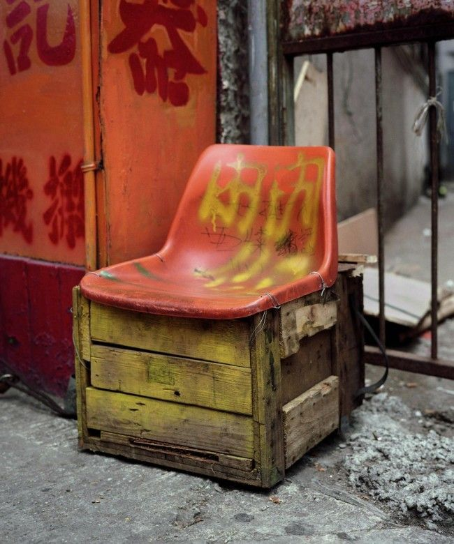Michael Wolf, whose works we just can't get enough of, has a fairly new series focusing on makeshift chairs in China and Hong Kong. Endearingly dubbed 'bastard chairs' thanks to their questionable origins, these snapshots show a lot of spunk and personality from their unseen makers.