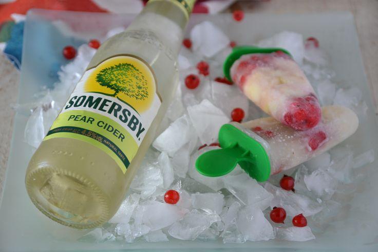 Somersby ice lolly with pear and red currant. Brilliant, cool and fun cold beverage for summer parties! / Ribizlis-körtés jégkrém Somersby ciderből. A nyári kerti partik sztárja lesz!