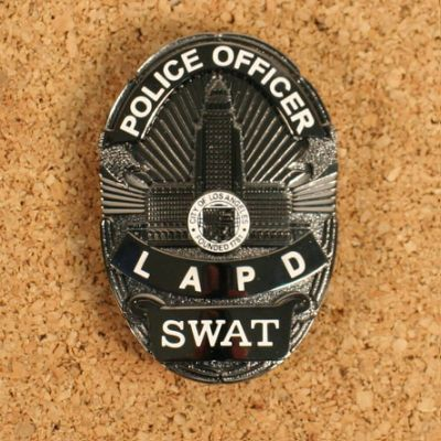 FBI017 Metal LAPD SWAT Police Badge
