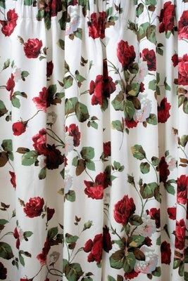 1950s Red Roses Curtains For The Home Pinterest To