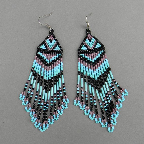 Long  seed bead earrings by Anabel27shop on Etsy, $18.00